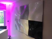 Panneaux modulable 3D en fibre de verre couleur RAL